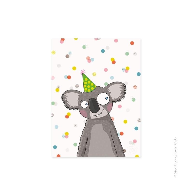 Adorable affiche Koala. Peut être encadrée. Toujours en stock.