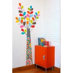Sticker arbre haut en couleur