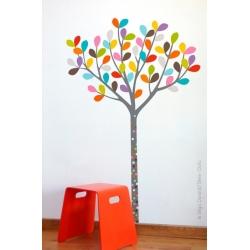 Sticker arbre petit bois
