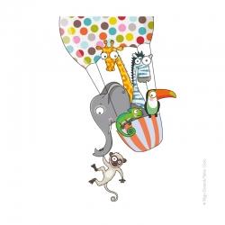 Sticker montgolfière. Décoration chambre enfant.