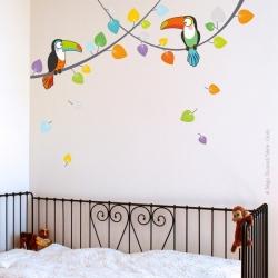 sticker jungle pour la chambre de bébé