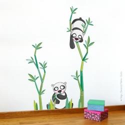 Sticker le goûter des pandas