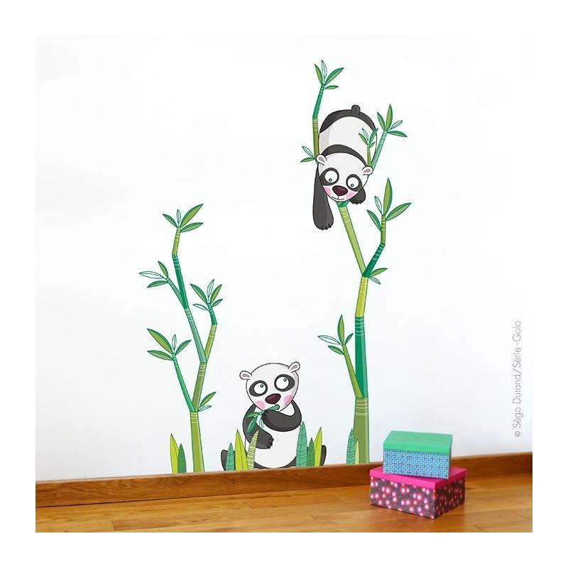 sticker panda pour décorer la chambre de bébé