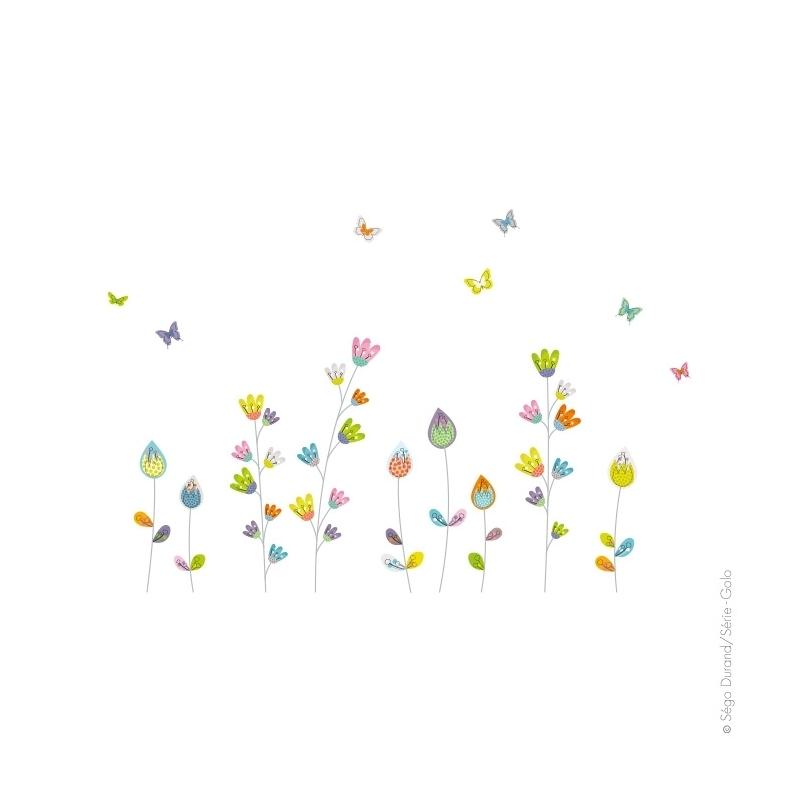 Printemps Papillons STICKO Glitter Stickers-Joli Papillon /& Fleurs