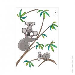 sticker déco koala trop mignon