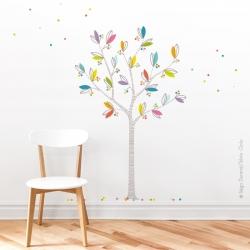 Sticker arbre à petits pois
