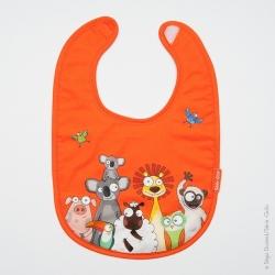 Bavoir bébé animaux orange