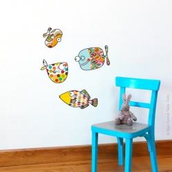 Sticker gros poissons