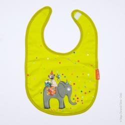 Bavoir bébé confettis vert
