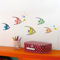 Sticker poissons tropicaux