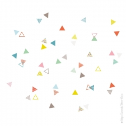 Sticker 45 petits triangles