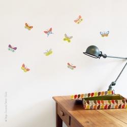 Sticker 9 papillons