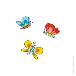 Autocollant mural papillon.