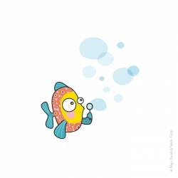 Sticker poisson-bulle