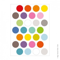 Sticker pois multicolores 3 cm