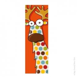 Tableau animaux de la forêt. détails : châssis bois, format vertical 20x60 cm, impression qualité.
