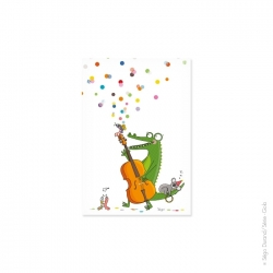 Carte postale enfant jazzy