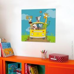 Tableau chambre bébé animaux. un décoration murale pleine de bonne humeur.