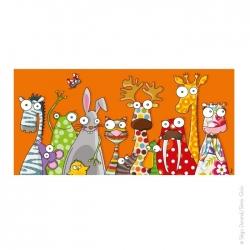 Une touche de pastel ? non . Que des couleurs avec le tableau animaux rigolos.