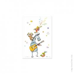 Carte postale enfant boogie woogie