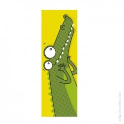 Tableau tête de crocodile (20x60 cm)
