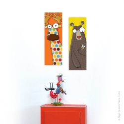 Tableau tête d'ours (20x60 cm)