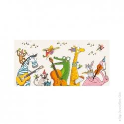 Le tableau animaux music aux multiples détails est idéal pour un cadeau de naissance. laissez votre avis.