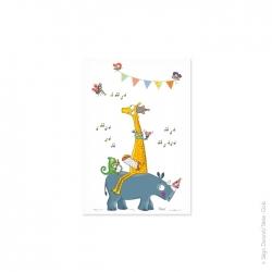 Carte postale enfant guinguette