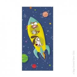 Tableau fusée jaune (38x78 cm)