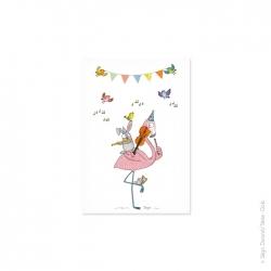 Carte postale enfant concerto