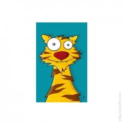 Tableau tigre (22x14 cm)