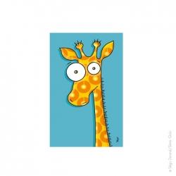 Tableau girafe (22x14 cm)