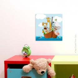 Imprimé sur toile monté sur un carde en bois. vue sur la mer. Achat a petit prix.