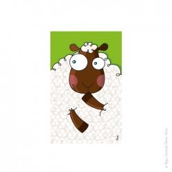 Tableau mouton (22x14 cm)