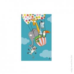Tableau en ballon (22x14 cm)