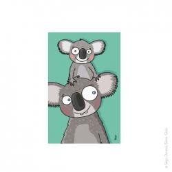 Tableau enfant koala. Découvrez notre collection animaux. De la couleur sur votre mur assurément.