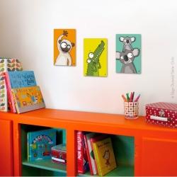 Singe, crocodile, koala. Décorez la chambre de votre bébé avec de la couleur.