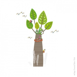Sticker arbre géant baobab