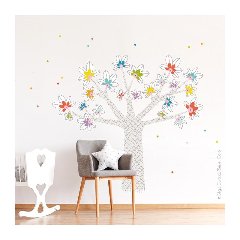Décorer les murs avec cet autocollant mural géant arbre, baobab.