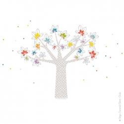 Imprimé en France, ce sticker mural arbre se colle sur toutes surfaces lisses et propres.