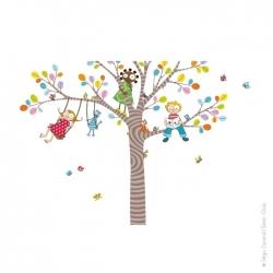 sticker arbre - une idée déco pour la salle de jeux ou même une salle de classe.