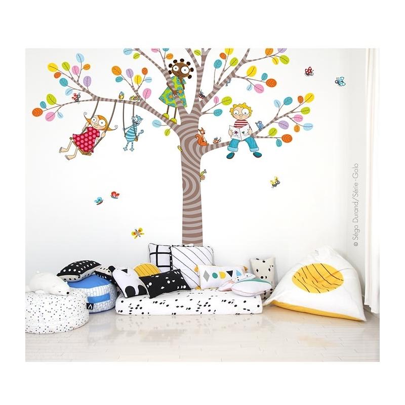 sticker arbre géant pour enfants, format XXL, 2,5x3,2 m.