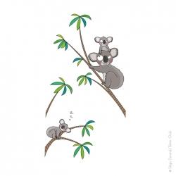 sticker inversé déco koala