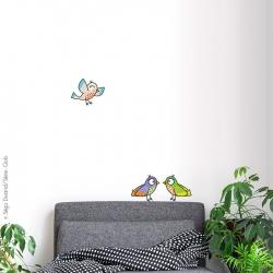 3 oiseaux. Un décor simple a offrir en cadeau pour un anniversaire. Livraison rapide.