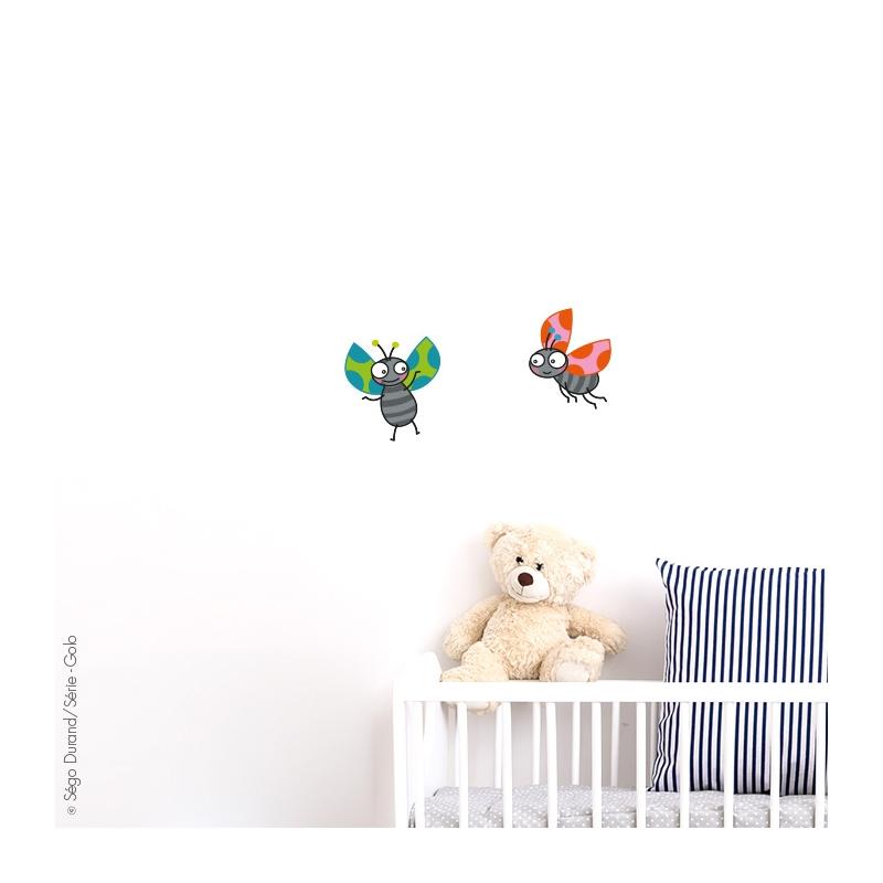 Stickers muraux enfants, pour fille ou garçon. une collection au design Série-golo. toujours disponible.