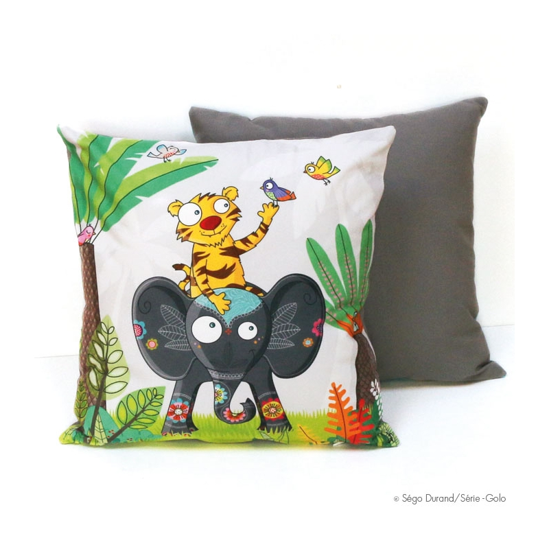 coussin bebe à dos d'éléphant