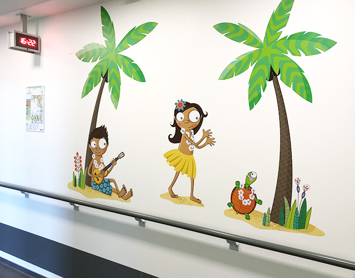 Décoration murale avec des stickers enfants hawaïens