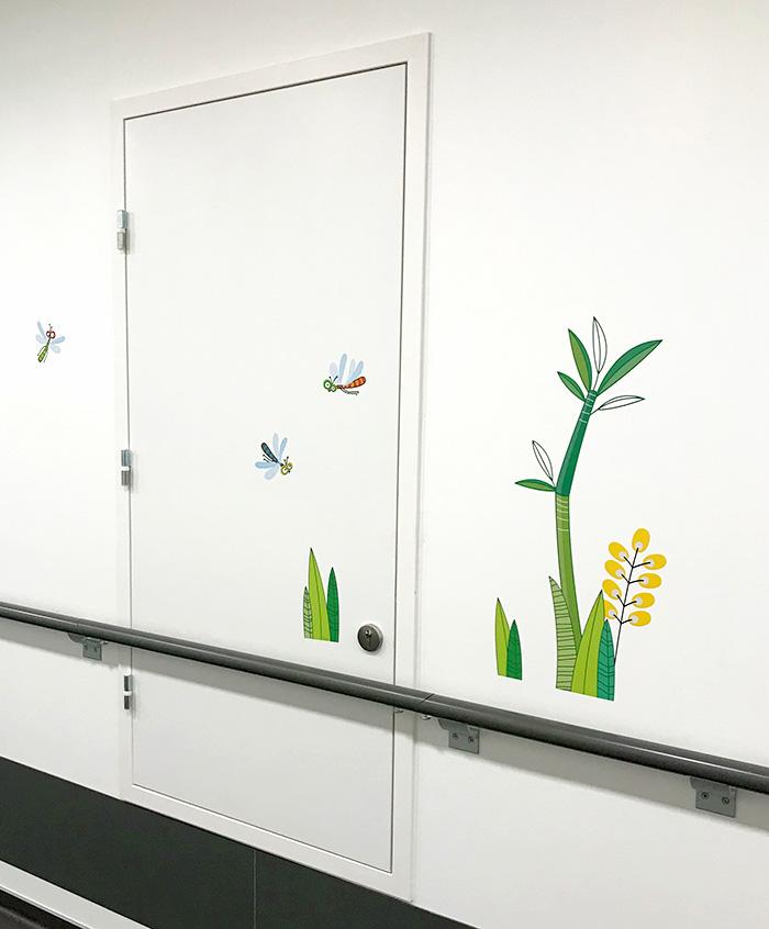 Décors mural de libellules