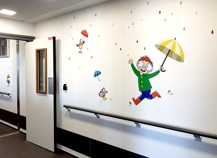 Dansons sous la pluie dans les couloirs de la pédiatrie