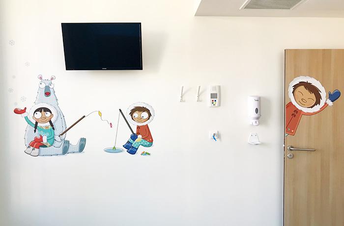 Mise en situation des stickers enfants inuits dans les chambres